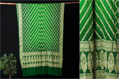 Pure Georgette Neem Jaal Work Traditional Bandhani Saree