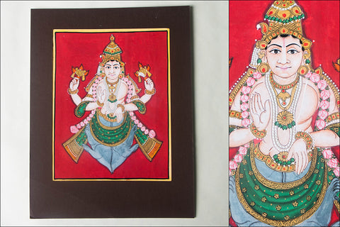 10in x 8in - Traditional Mysore Painting Vamanavathara