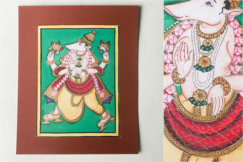 8in x 6in - Traditional Mysore Painting Varahavathara