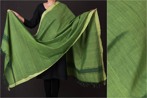 Mangalgiri Khadi Cotton Natural Dyed Dupatta by DAMA