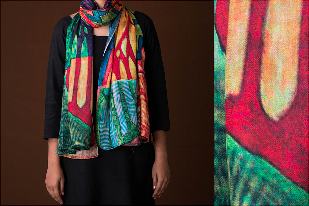 Digital Printed Viscose Stole