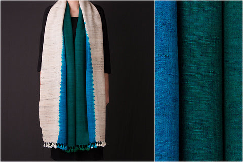 Kutch Handwoven Silk x Wool Three Shade Stole