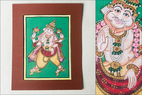 8in x 6in - Traditional Mysore Painting Narasimhavathara