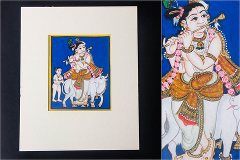 6in x 5in - Traditional Mysore Painting Krishnavathara