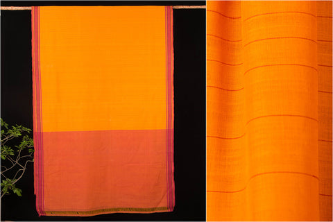 Godavari Leaf &Stripe Cotton Saree with Blouse by DAMA