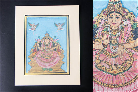 8in x 6in - Traditional Mysore Painting Maha Lakshmi God