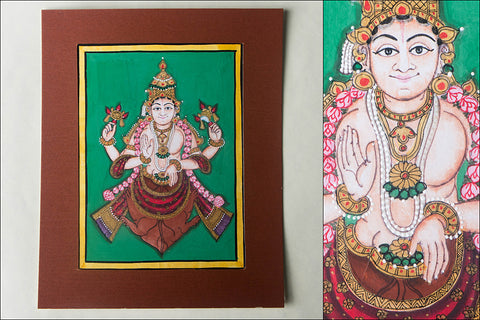 8in x 6in - Traditional Mysore Painting Kurmavathara