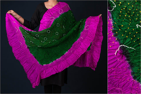Bandhani Silk Cotton Dupatta from Kutch
