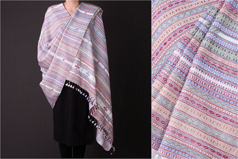 Kutch Embroidered Handwoven Traditional Fine Woolen Shawl