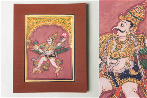 8in x 6in - Traditional Mysore Painting Garud God