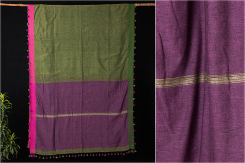 Bishnupur Pure Soft Khadi Saree from Bengal