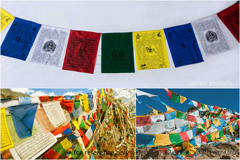 Tibetan Prayer Flag - Handmade in Himalayas - Lung Ta Wind Horse (Large)