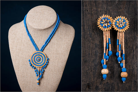 Handcrafted Rice Paddy Necklace Set by Putul Das Mitra