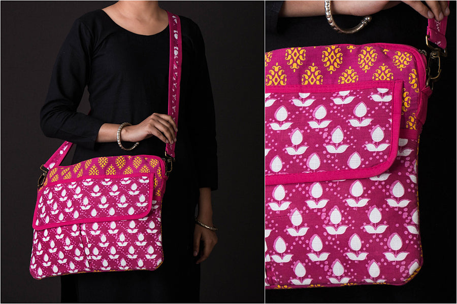 Tukdi Kaam Cotton Laptop Bag