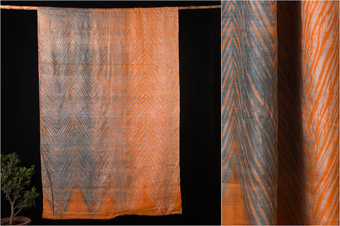 Original Leheria Tie-Dye Shibori Pure Tussar Silk Saree with Blouse