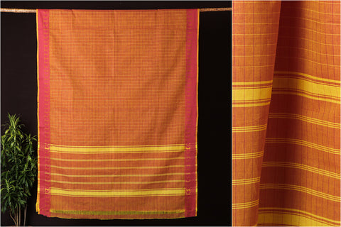 2019/010-1 60 Traditional Chettinad Kandaangi Pure Cotton Saree from Tamil Nadu