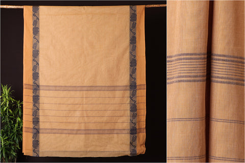 Traditional Chettinad Kandaangi Pure Cotton Saree from Tamil Nadu