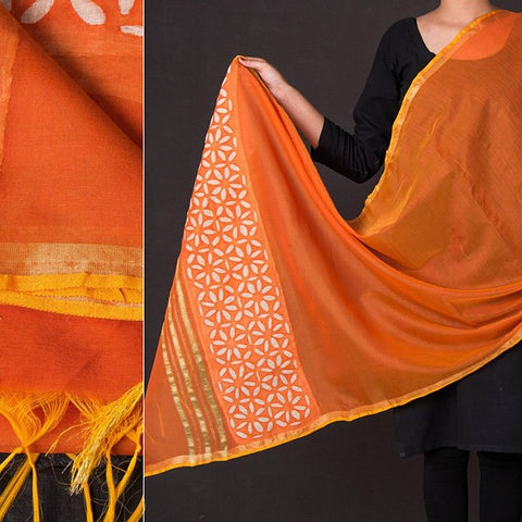 Special Barmer Applique Work Chanderi Silk Dupatta