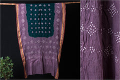Kutchhi Bandhani Cotton Saree with Blouse Piece