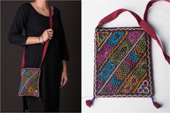 Kutchhi Hand Embroidered Mirror Work Sling Bag