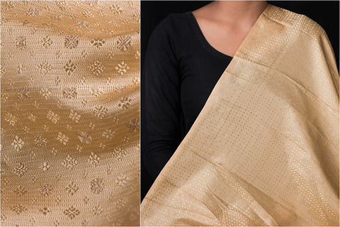 Traditional Pure Banarasi Viscose Silk Zari Buti Handloom Fabric