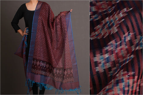 Pure Handloom Pochampally Double ikat Silk Cotton Dupatta