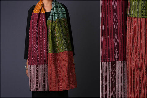 Fabart Ikat Cotton Stole by Stoles & Scarves