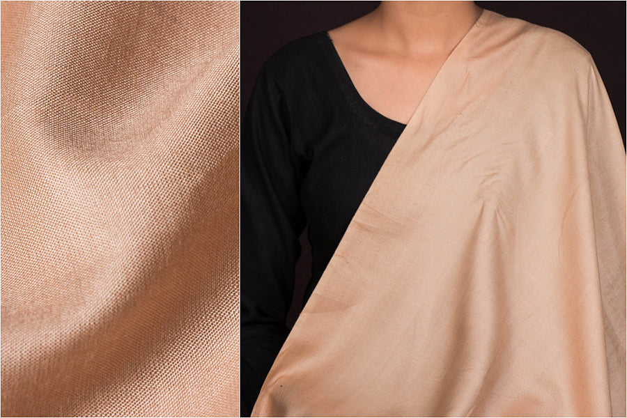 Cream - Vidarbha Handloom Tussar Cotton Fabric
