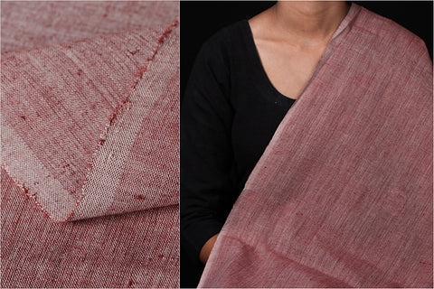 Malkha Cotton Pure Handloom Natural Dyed Fabric - Alizarin Red