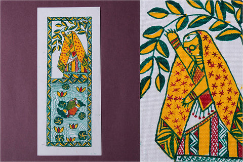Manjusha Painting on Handmade Paper (12x5 inches)