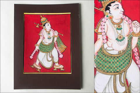 10in x 8in - Traditional Mysore Painting Parashuramavathara