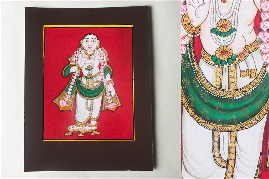 10in x 8in - Traditional Mysore Painting Buddhavathara