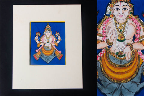6in x 5in - Traditional Mysore Painting Kurmavathara