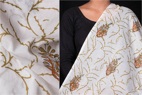 Sanganeri Hand Block Printed Pure Cotton Fabric