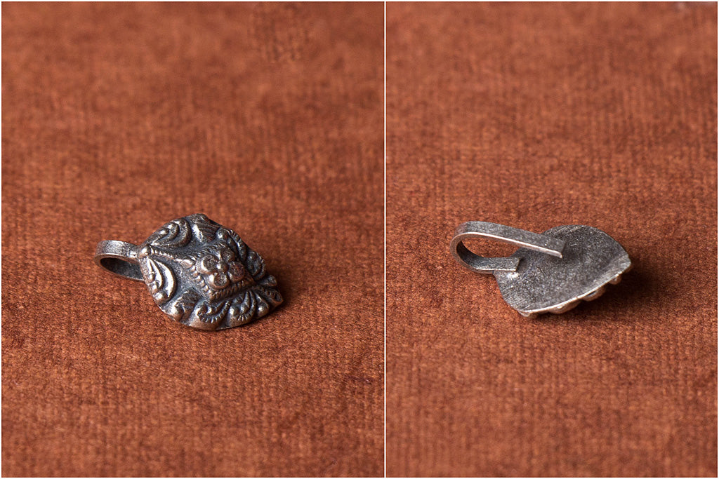 Antique Padma Sterling Silver Nose Clip-On