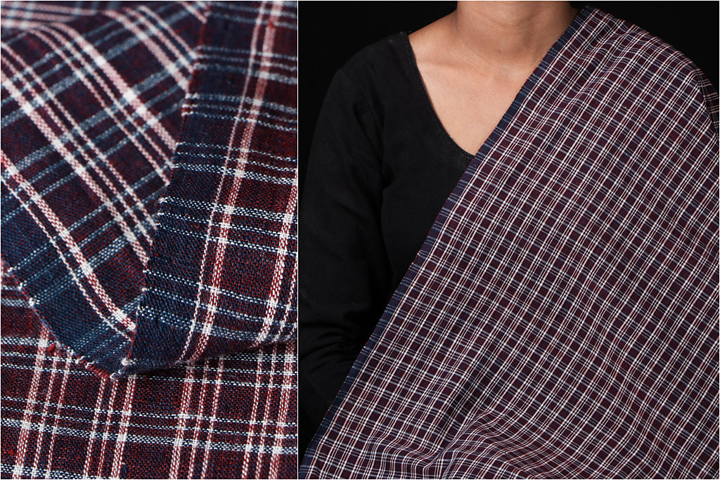 Malkha Cotton Pure Handloom Natural Dyed Fabric