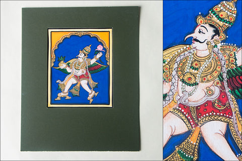 6in x 5in - Traditional Mysore Painting Garud God