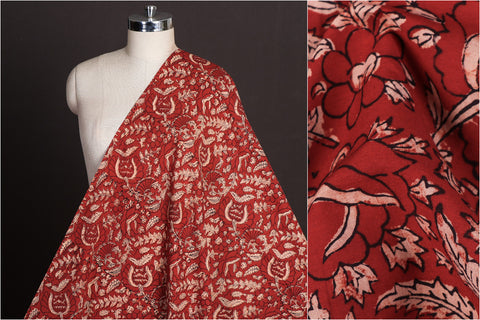 Ajrakh Dabu Hand Block Printed Pure Cotton Natural Dyed Fabric