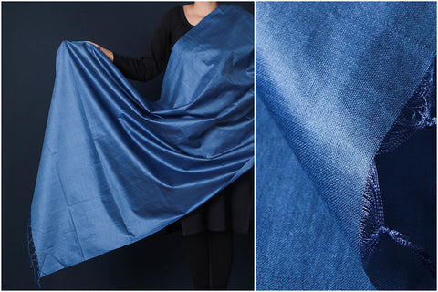 Steel Blue - Vidarbha Tussar Cotton Handloom Dupatta