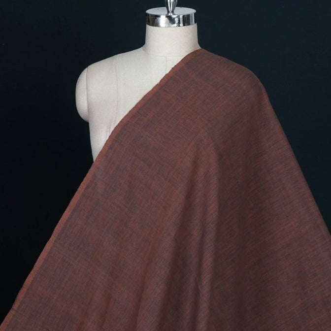 Alizarin Red : Ratanjyoti Dove Gray - Malkha Pure Handloom Cotton Natural Dyed Fabric