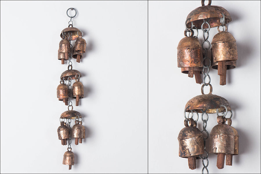 Kutch Copper Coated Bell 13 Bell Jhoomar
