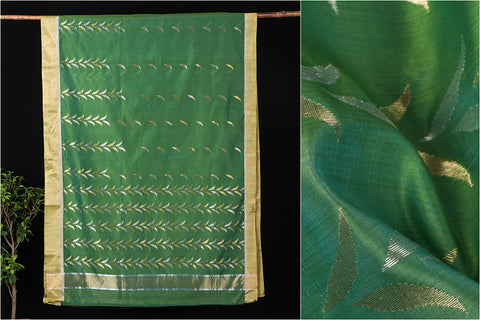 Traditional Chanderi Silk All Over Zari Bell Handloom Saree by Rauph Khan