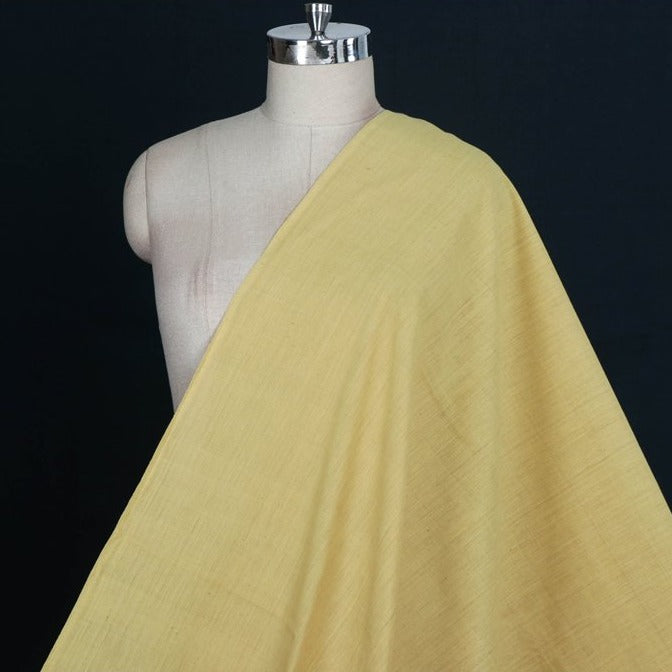 Anar Yellow - Malkha Pure Handloom Cotton Natural Dyed Fabric