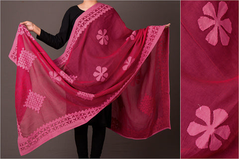 Special Barmer Applique Work Cotton Dupatta