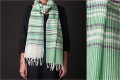 Bengal Handwoven Cotton - Wool Stole
