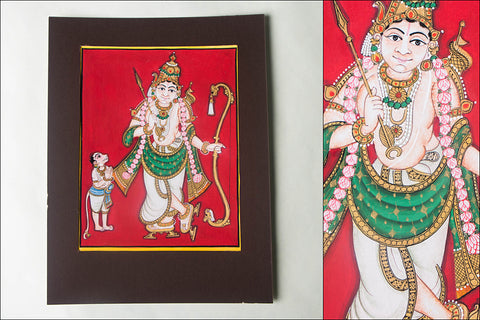 10in x 8in - Traditional Mysore Painting Sri Ramavathara