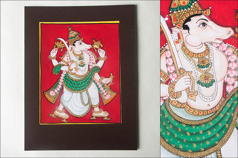 10in x 8in - Traditional Mysore Painting Kalkiavathara