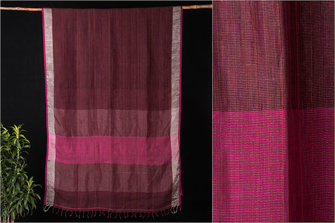Bishnupur Pure Linen Handloom Saree from Bengal