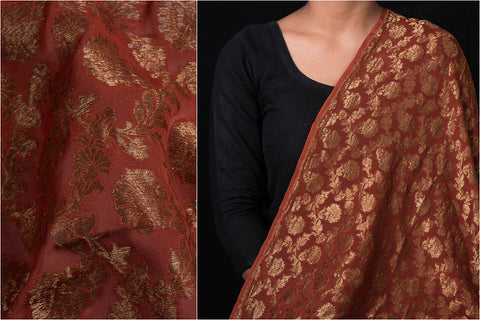 Traditional Pure Banarasi Handloom Silk Chiffon Fabric