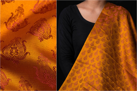 Traditional Pure Banarasi Handloom Viscose Silk Fabric